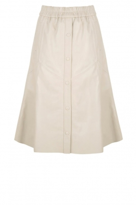 Dante 6 |Leren rok Reid | naturel  Leather skirt Reid | natural
