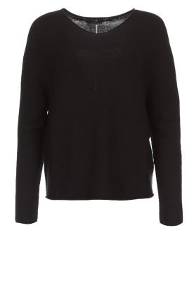 Set | Basic trui Rikki | zwart
