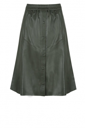 Dante 6 |  Leather skirt Reid | green