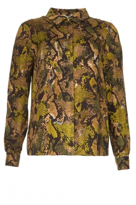 Kocca | Blouse with snake print Koffil | green