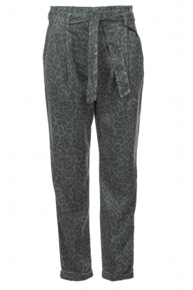 Kocca |Pants with print Zilon | grey