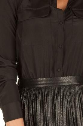 Patrizia Pepe | Jurk met leren rok Laisha | zwart