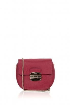 Furla | Leren schoudertas Club Mini | Bordeaux