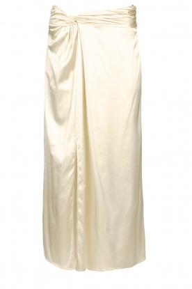 Patrizia Pepe |  Maxi skirt with split Shine | natural