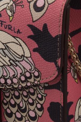 Furla | Leren schoudertal Metropolis Mini | roze