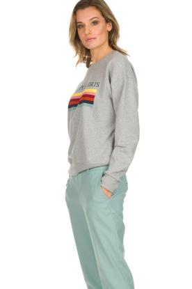 Set | Sweatshirt met opdruk Noor | grijs