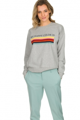 Set |  Sweatshirt with overprint Noor | grey