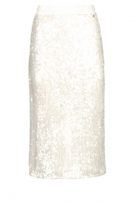 Patrizia Pepe |  Sequinned skirt Disco | natural