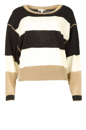 Kocca |Sweater with lurex details Weisse | black