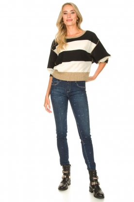 Look Sweater with lurex details Weisse