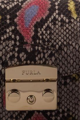 Furla | Leren schoudertal Metropolis Mini | dierenprint