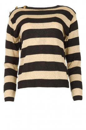 Kocca |Striped sweater Glavur | black