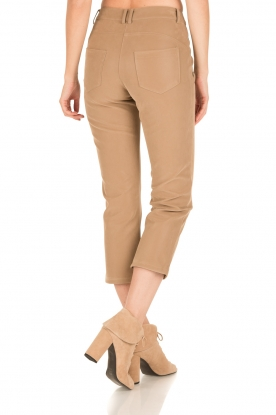 Patrizia Pepe | High waist broek Bibianne | bruin