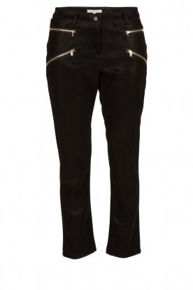 Patrizia Pepe | High waist broek Bibianne | zwart