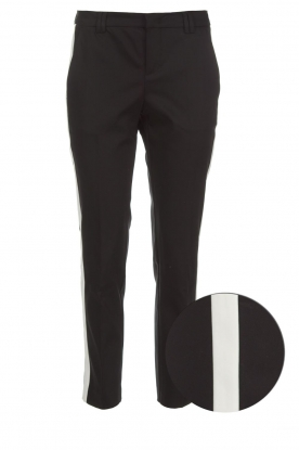 Set |  Trousers with side stripes Lorena | black