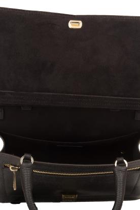 Furla | Leren schoudertas Like Top Handle | zwart