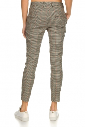 Set | Houndstooth pantalon Hailey | bruin