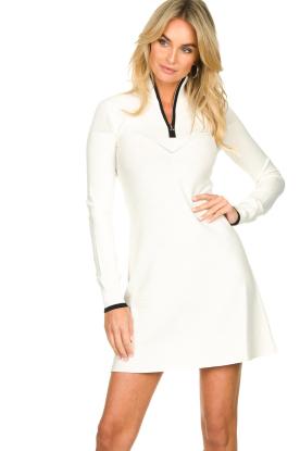 Patrizia Pepe |  Turtleneck dress Lisanne | natural