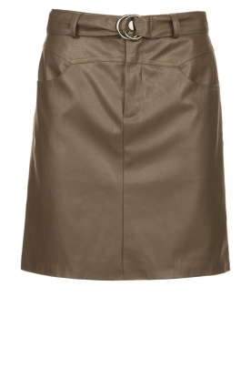 Kocca |  Faux leather belted skirt Brases | green