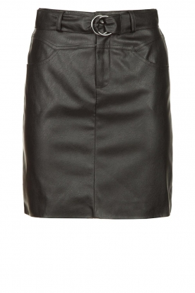Kocca | Faux leather belted skirt Brases | black