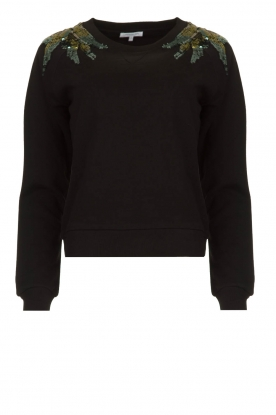 Patrizia Pepe | Sweater with  sequins | black