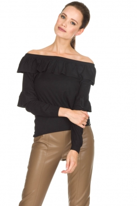 Patrizia Pepe | Off-shoulder top Celia | zwart
