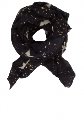 Becksöndergaard |  Scarf with star print Hosta | Blue