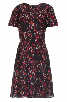 Set |  Dress with floral print Aria | black