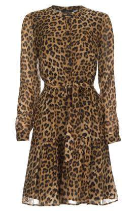 Set | Jurk met luipaardprint Nina | bruin