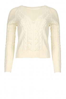 Patrizia Pepe | Knitted sweater | natural