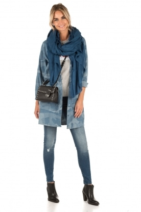 Hoss Intropia | Denim Jurk Patch | blauw