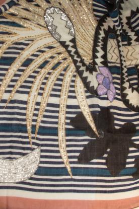 Becksöndergaard   Sjaal met kralen Jungle Night   multi