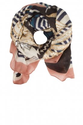 Becksöndergaard |  Scarf with beads Jungle Night | multi