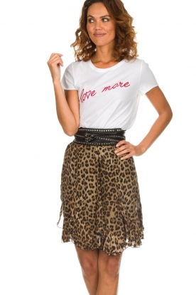 Set |  Skirt with leopard print Lilly | brown