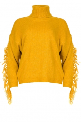 Kocca | Turtleneck sweater Fisten | ochre yellow