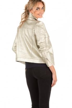 Hoss Intropia | Biker jacket Shine | champagne