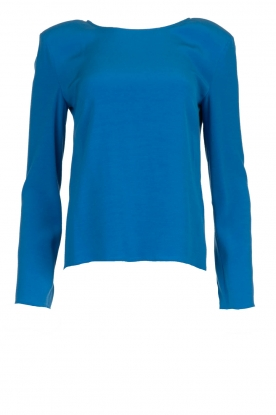 Patrizia Pepe |  Top with shoulder padding Pat | blue