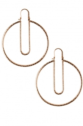 Hoss Intropia |  Earrings Paperclip | gold