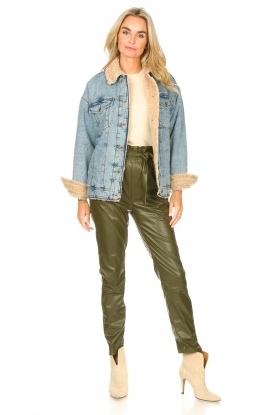 Look Denim jacket with faux fur