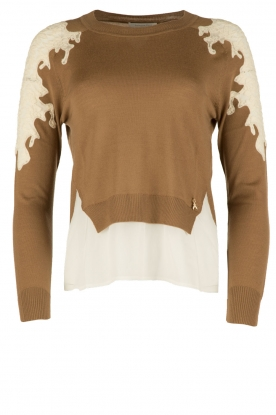 Patrizia Pepe |  FIne knitted sweater Polly | camel