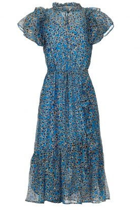 Munthe |  Dress with print Jezz | blue