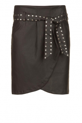 Silvian Heach |  Faux leather paperbag skirt Birthsean | black