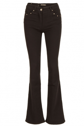 Patrizia Pepe | Flair jeans Angelina | zwart