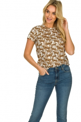 Munthe |  T-shirt with leopard print Jeremy | animal print