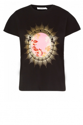 Munthe |  T-shirt with print Juliette | black