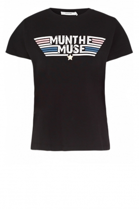 Munthe |  T-shirt with text print Jackfruit | black