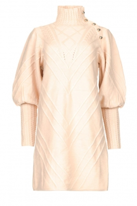 Silvian Heach |  Knitted balloon sleeve dress Maverix | nude