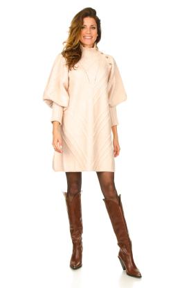 Look Knitted balloon sleeve dress Maverix