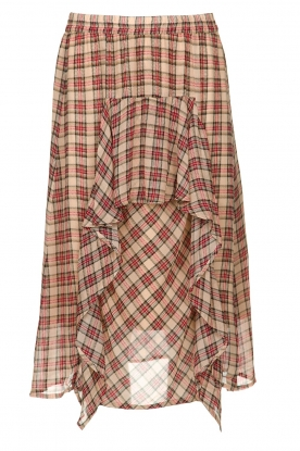 Munthe |  Checked midi skirt Joan | red