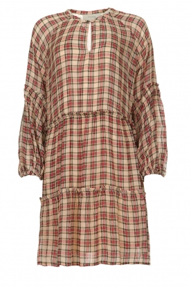 Munthe |  Checked dress Juhu | red
